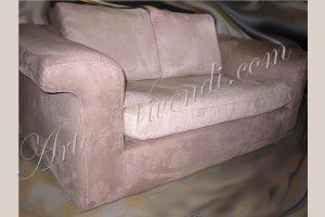 Canape deux places suédine couleur beige clair et beige foncée