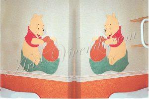 Tissu ttendu avec motif winnie l'ourson