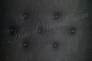 tissus tendu capitonné finition plate couleur noir