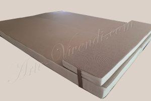Coussin bain de soleil, mousse etanche impermeable couleur marron clair blanc