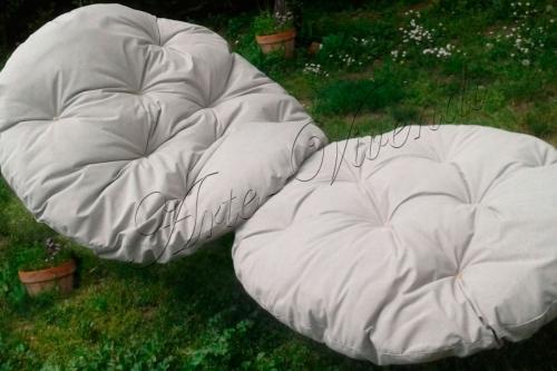 Love seat pour jardin tissus extérieur capitonné couleur ecru