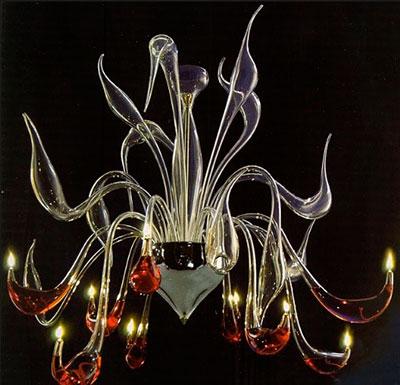 lustre murano a huile verre soufflé design artevivendi